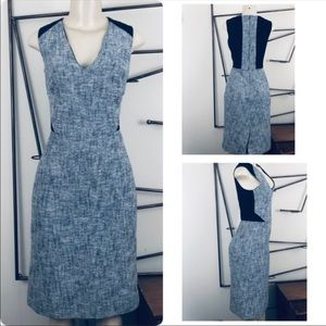 JCREW NAVY TWEED DRESS SZ 4Tall